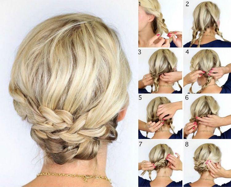 Lässige Flechtfrisuren Für Mittellanges Haar Frisuren Pinterest