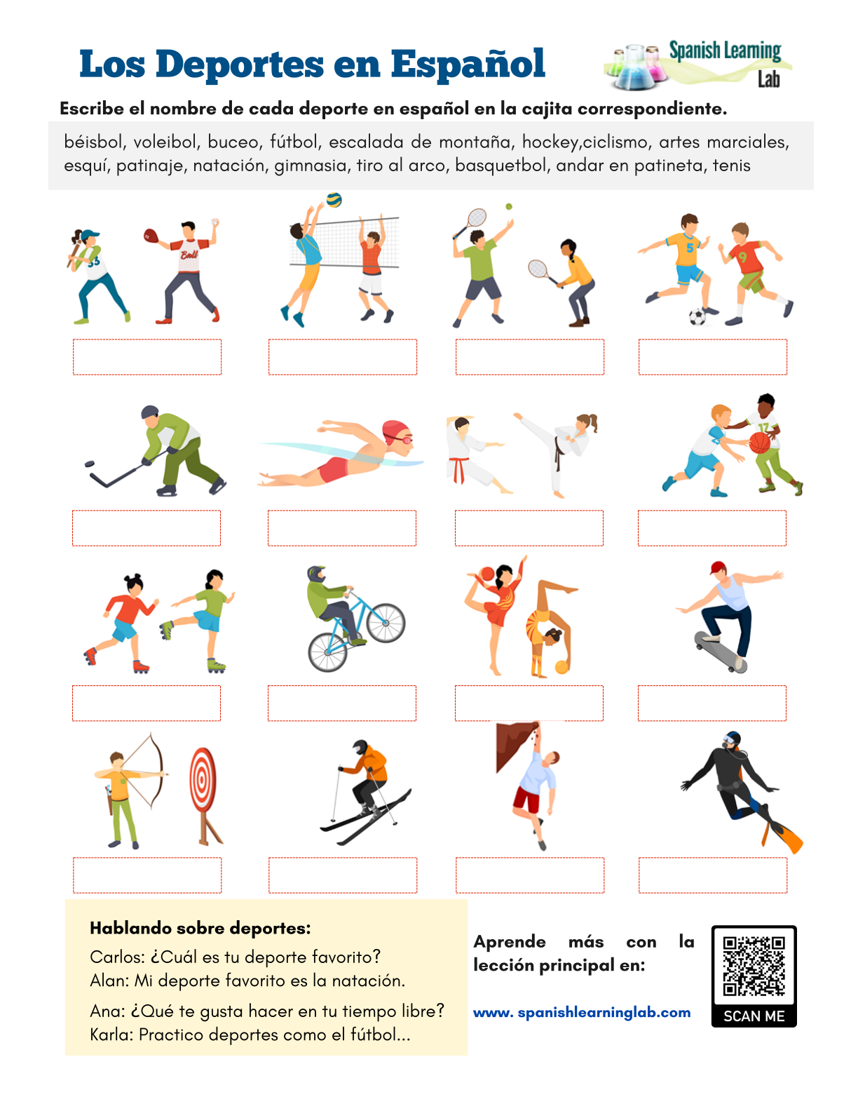 Common Sports In Spanish