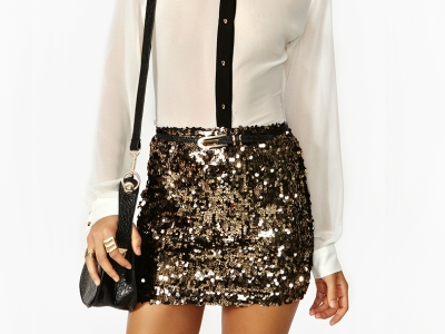 d8647a115c solid gold sequin skirt | My Style | Fashion outfits, Gold sequin ...