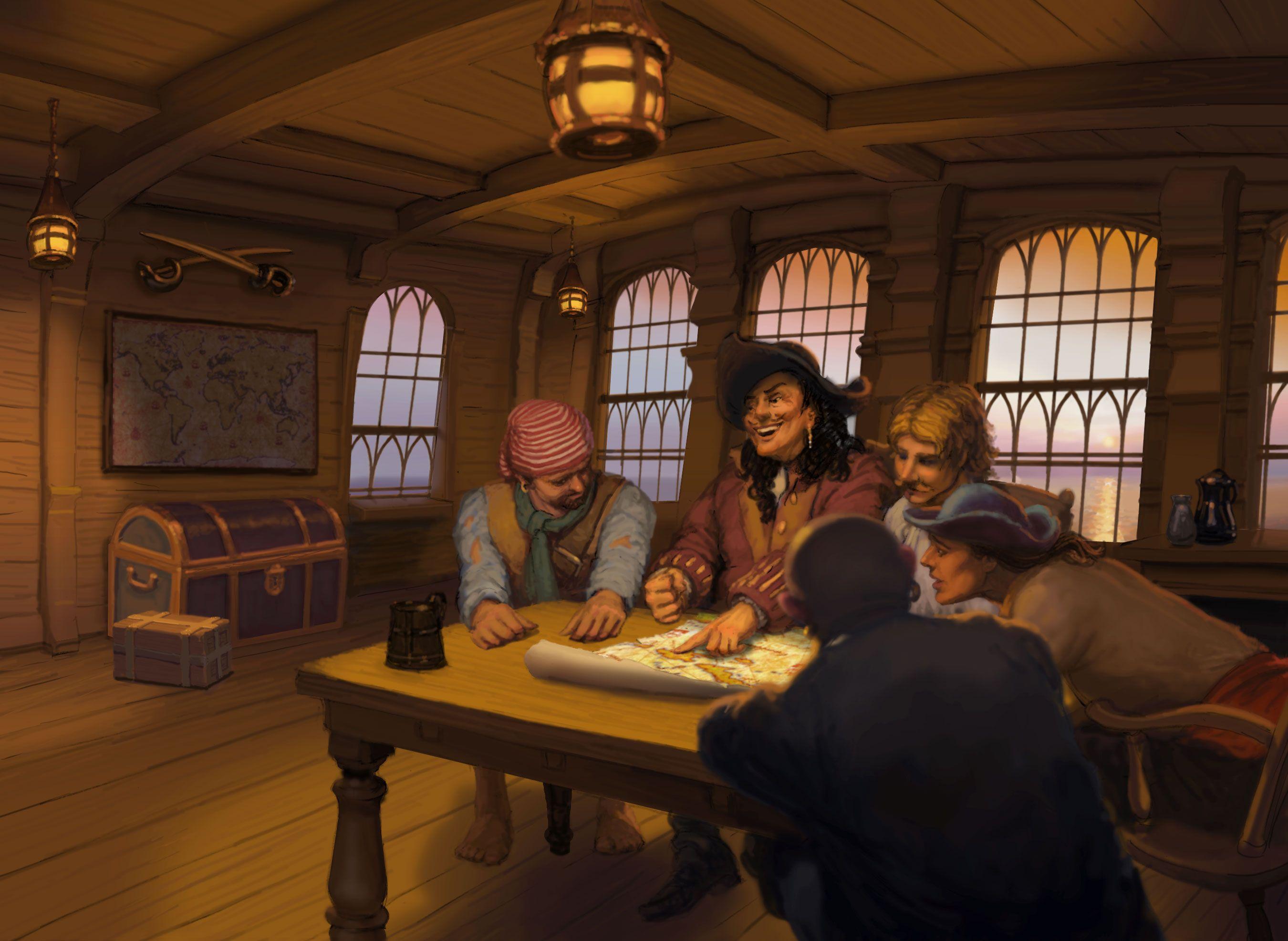 Каюта пиратов картинки