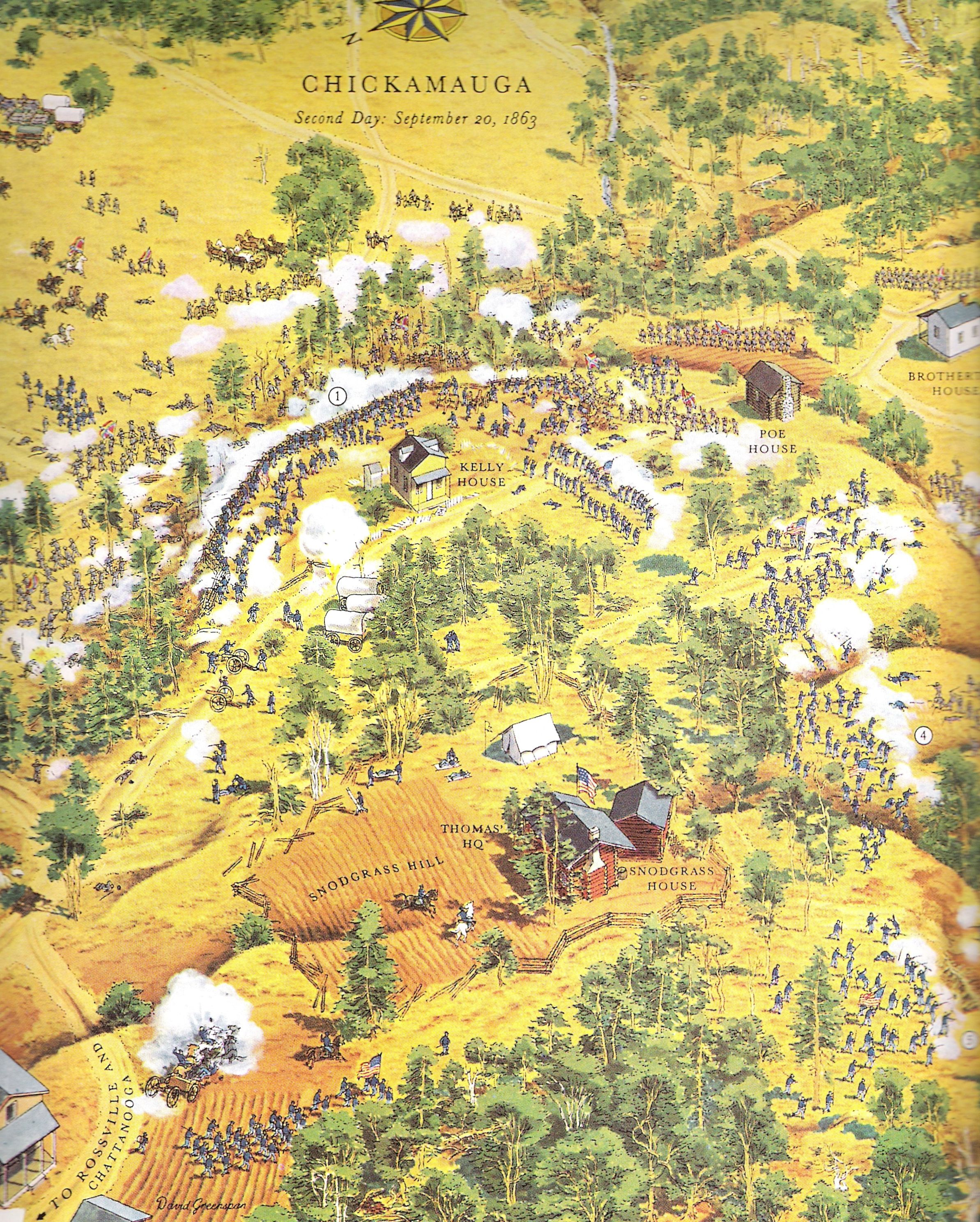 The Civil War Maps Of David Greenspan Civil Wars American Civil - Chickamauga on us map