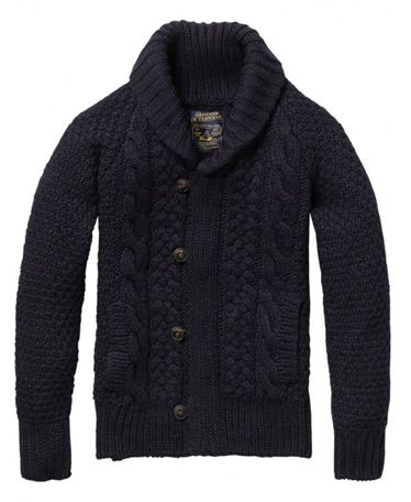 Shopping Guide: 15 Cardigan Sweaters for Men | Scotch soda, Cable ...