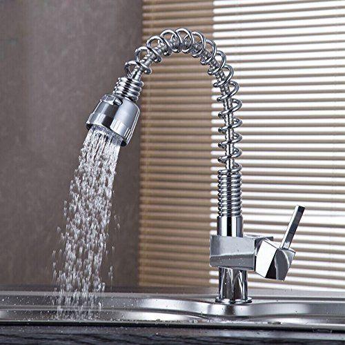 auralum kitchen chrome tap kitchen sink mixer tap fitting single lever mixer tap faucet mixer - Kitchen Sink Tap Fittings
