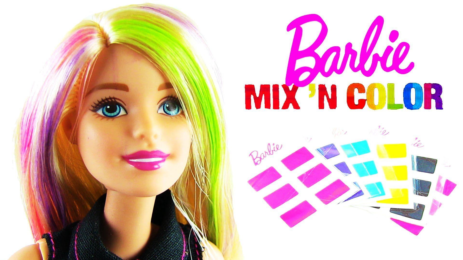 Barbie Sac Boyama Seti Mix N Color Hairstyling Doll Sac Barbie