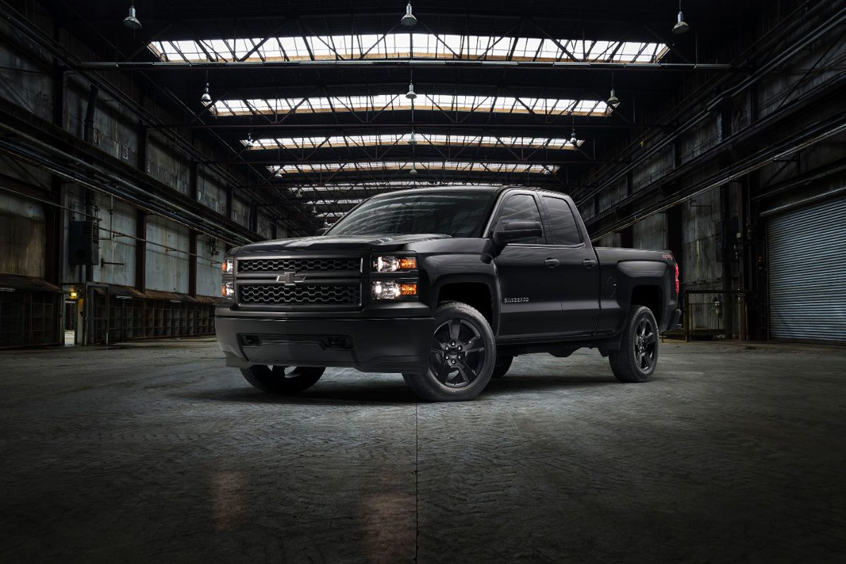 This Chevrolet Silverado Goes Dark With Black Rims Chevy