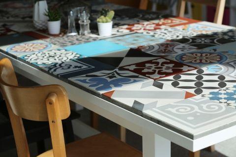 Ideen | Holztisch verschönern, Ikea esstisch, Tisch