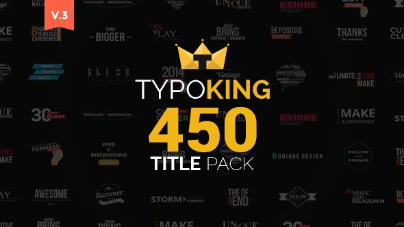 TypoKing   Title Animation - Kinetic Typography Text ...