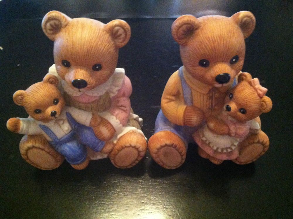 Home interiors bear figurines