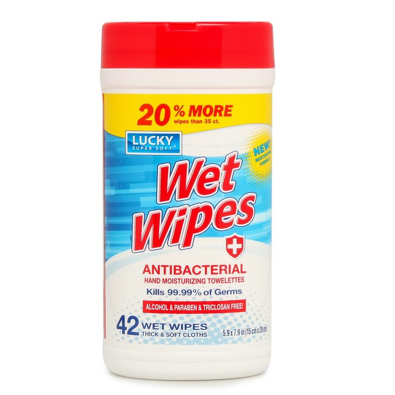 Antibacterial Wet Wipes 42 Count Wipes Paraben Free Products