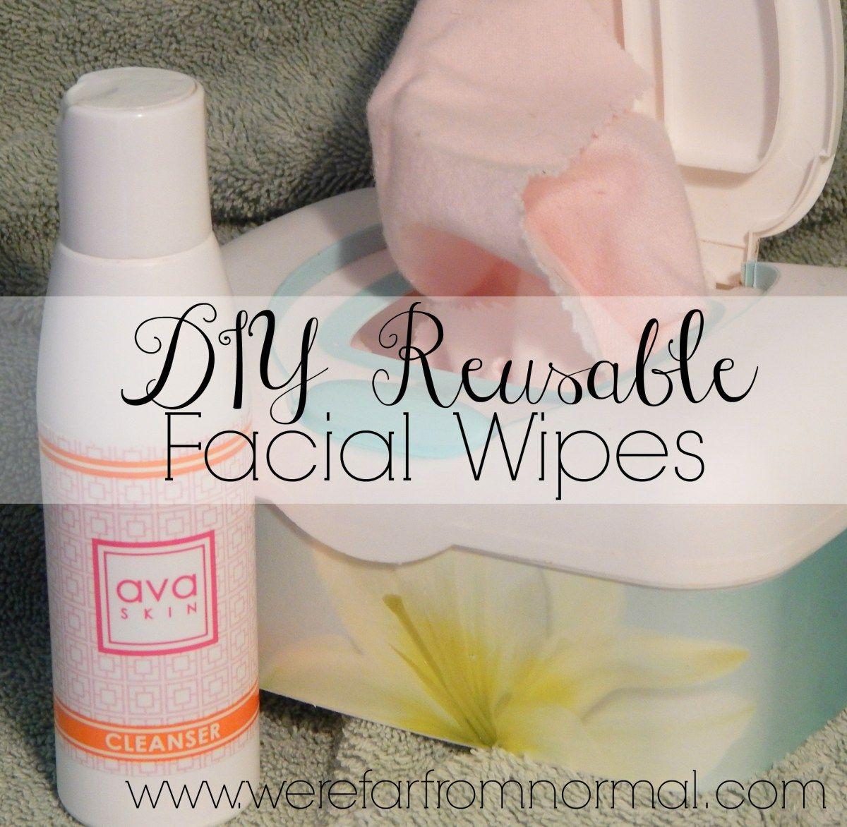 DIY Reusable Facial Wipes Facial wipes, Skin cleanser
