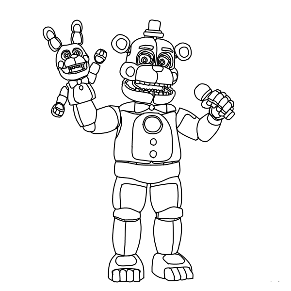 Funtime Freddy Fnaf Coloring Pages Sienna Board Fnaf Coloring
