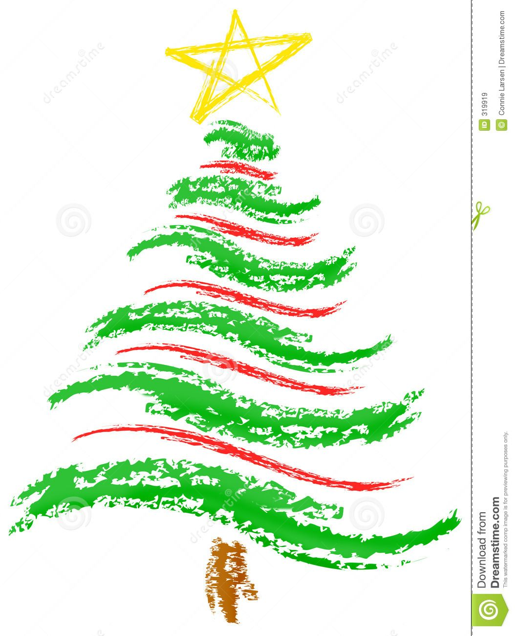 Christmas Tree Sketch Royalty Free Stock Images - Image: 319919 ...