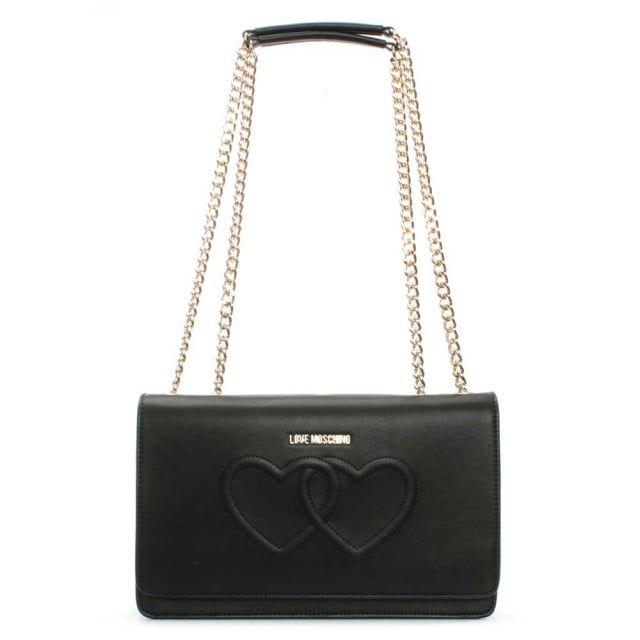 cd0c3d8cf9d Love Moschino Lumpur Black Heart Embossed Shoulder Bag | Essentials ...