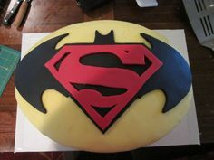 SupermanBatman Cake Batman cakes Superman party and Boy birthday