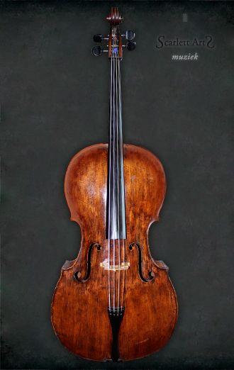 Oude barok cello, Weens/Praag 1770