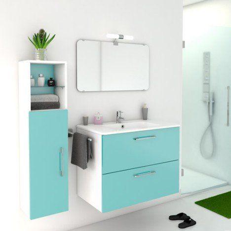 meuble salle de bain bleu atoll