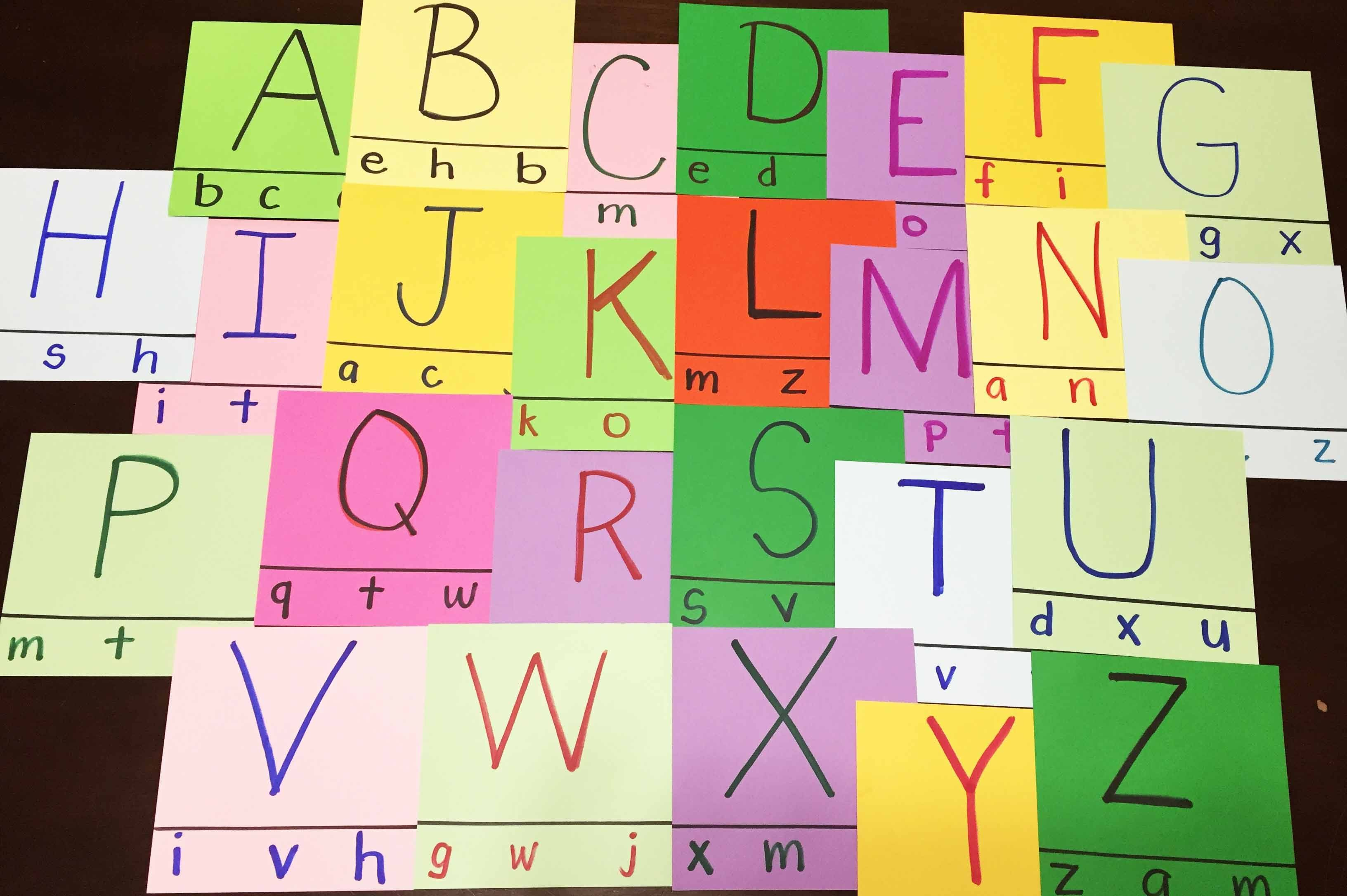 Abc Matching Game Upper Case Letter To Lowercase Letter