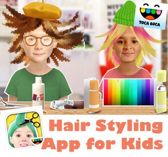 Toca Hair Salon Me Hair Styling App For Kids Comeback Momma Hair Salon Kids Fashion App