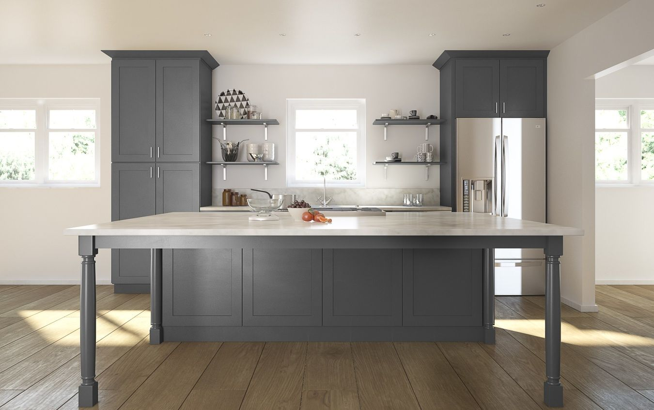 Shaker gray wholesale cabinet connection kitchen pinterest