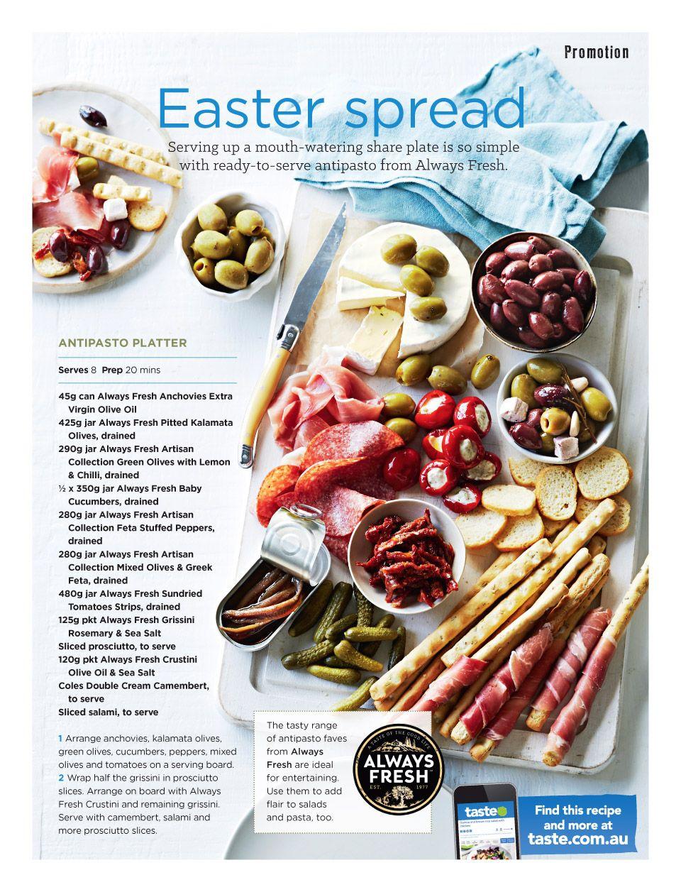Www Coles Com Au Magazine Antipasto Platter Italian Recipes Easy Antipasto