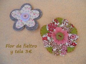 Flor de fieltro y tela 3€ (3)