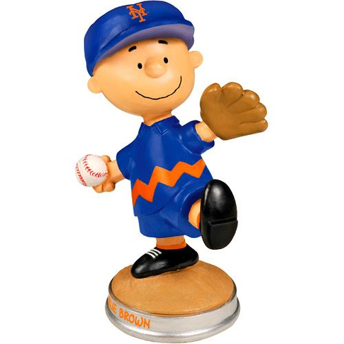 New York Mets Peanuts Charlie Brown Pitching Figurine By Forever  Collectibles   MLB.com Shop