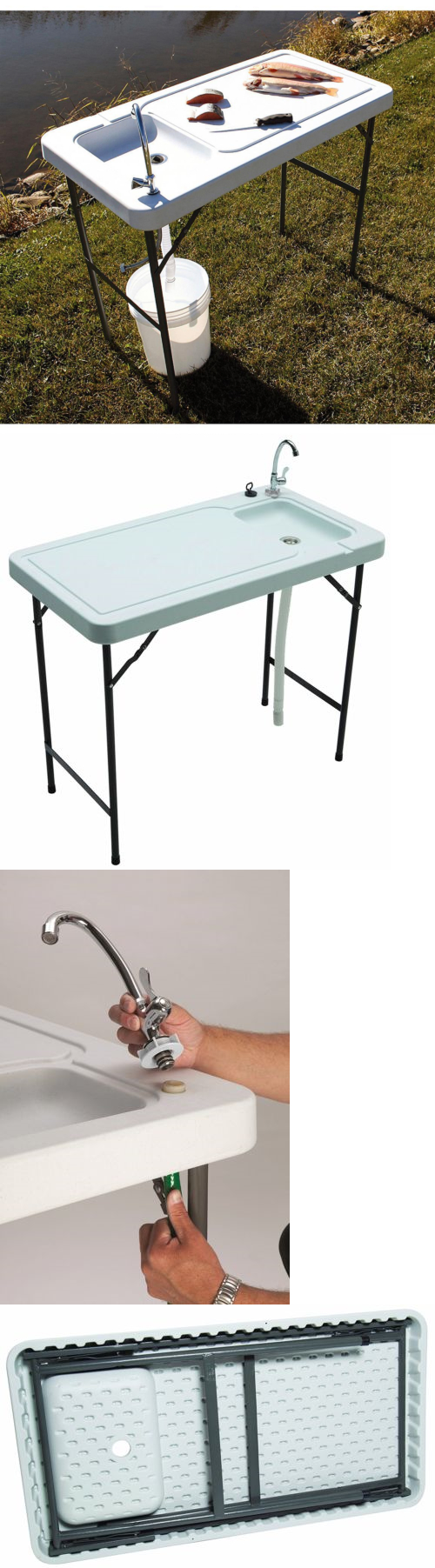 Fillet Tables and Cutting Boards 161823: Portable Sink Folding ...