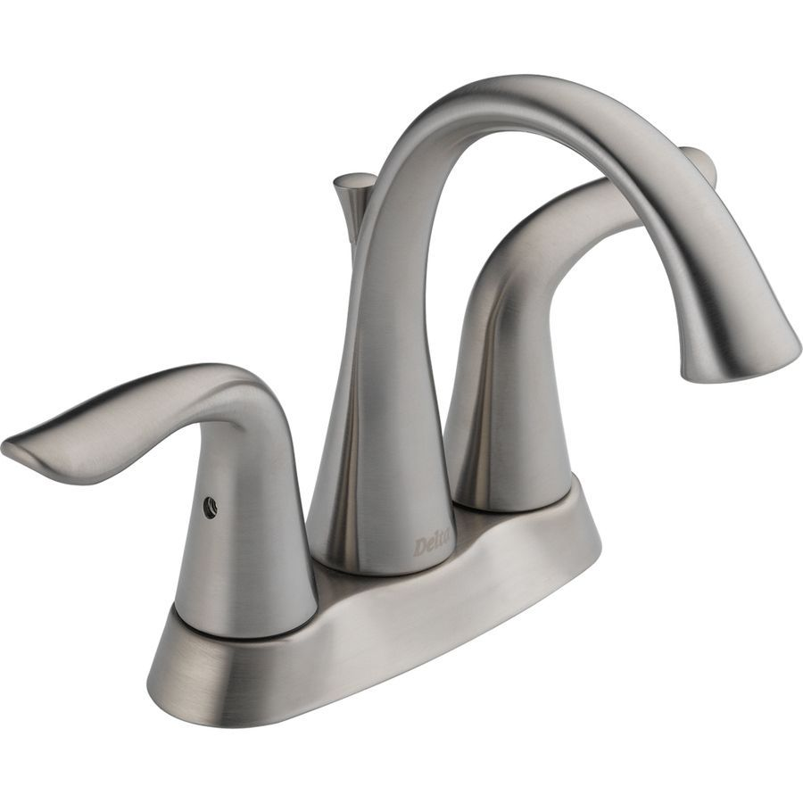 Delta Lahara Stainless 2Handle 4In Centerset Watersense Bathroom Awesome Delta Single Hole Bathroom Faucet Design Decoration