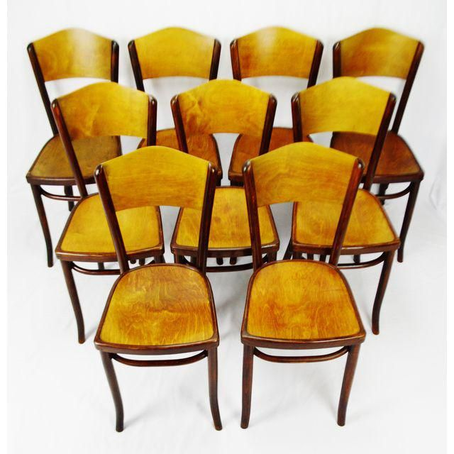 Image Of Vintage 1920 S Fischel Bentwood Cafe Chairs Thonet