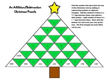 An Addition Subtraction Christmas Worksheet Puzzle Multiplying Polynomials Polynomials Solving Linear Equations