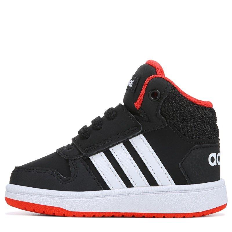 Adidas Kids Neo Hoops High Top Sneaker Toddler Shoes Black Red High Top Sneakers Toddler Shoes Top Sneakers