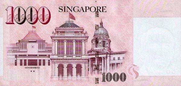 Matawang Singapore 1000 Dollars Nama Mata Wang Singapore Singapore Art Singapore Map