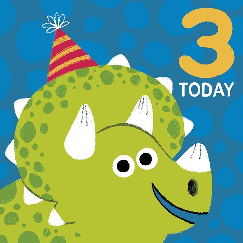 Dinosaur Birthday card #dinosaurillustration