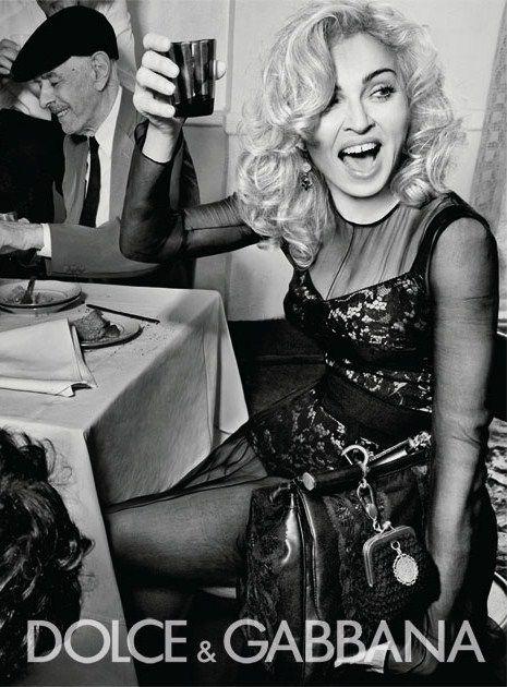 Madonna in Dolce and Gabbana advert | madonna