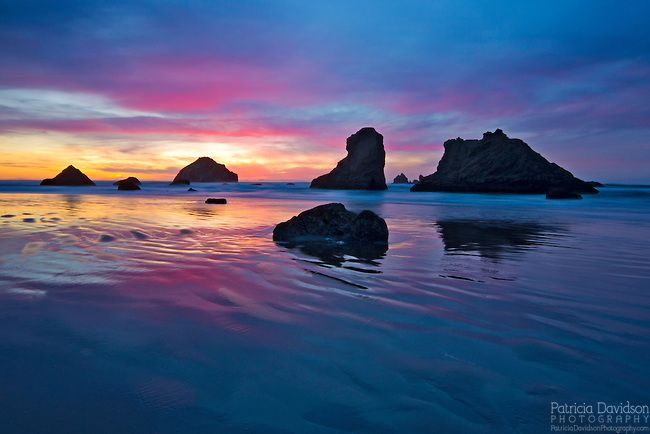 A Surprise Colorful Sunset In Bandon Oregon Face Rock And Other Sea Landscape Photography Best Landscape Photographers Best Landscape Photography