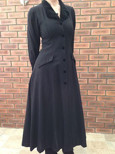 Laura-Ashley-Vintage-Victorian-Style-Riding-Coat-Dress-UK-Size-10