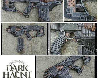 Nerf MOTORIZED Doomlands Desolator Blaster with RUBBER grips - Apocalyptic,  Zombie, Vampire, Cosplay
