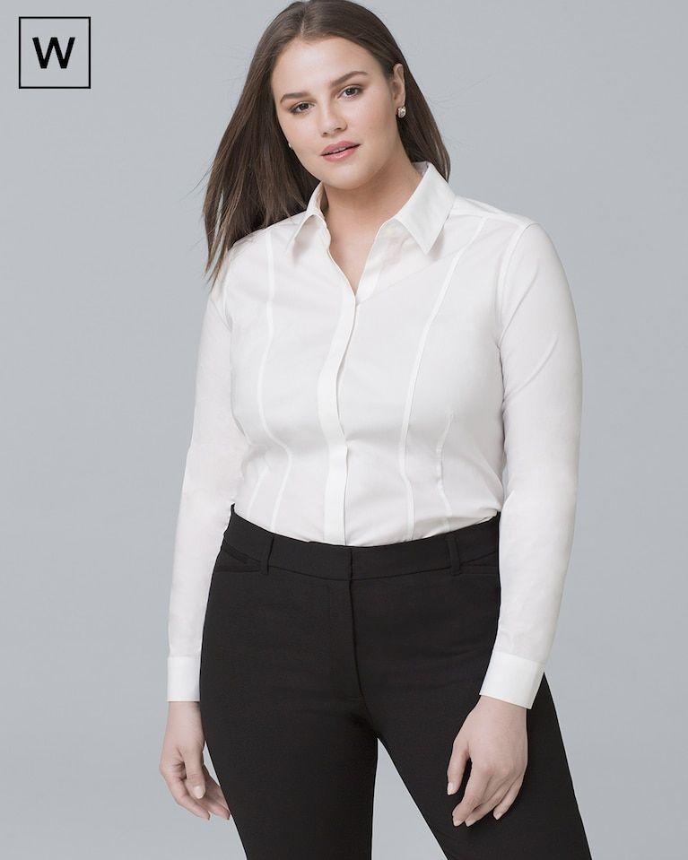 e77936c9acad87 Women's Plus Classic Poplin Shirt by White House Black Market ...