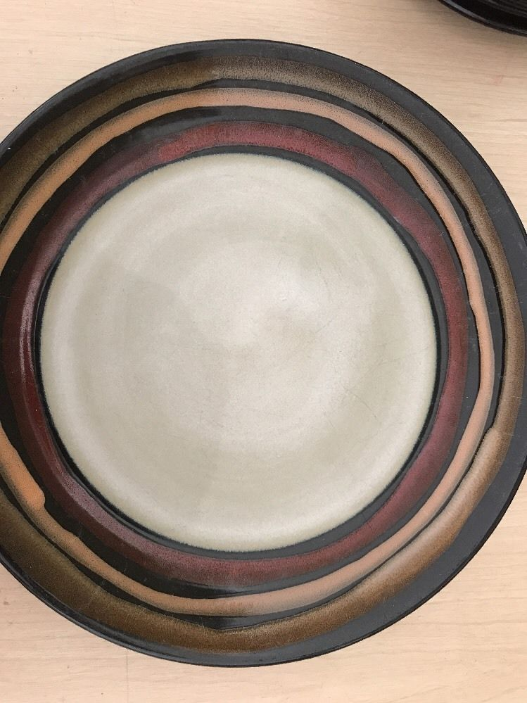 Sonoma Life + Style AZTEC Dinner Plate 11  Rust Black Gold 1 ea #HomeTrends & Sonoma Life + Style AZTEC Dinner Plate 11