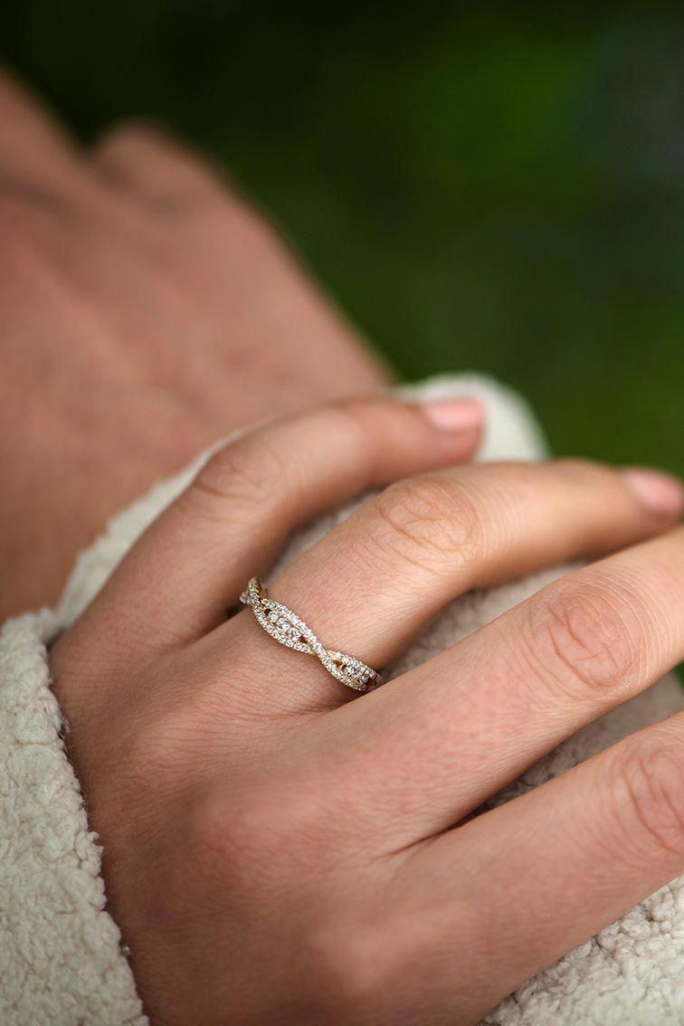 Vs Tourmaline Ring Diamond Engagement Ring Solid 14k Rose Gold