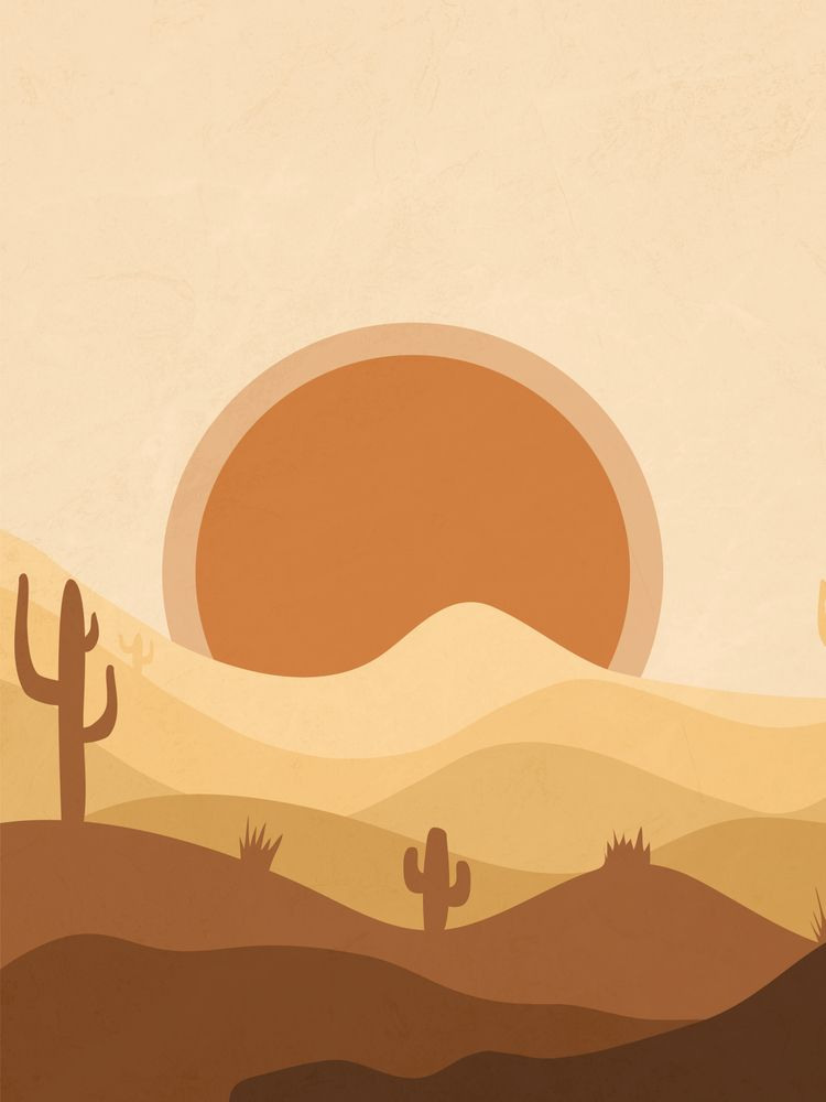 Warm Desert Sun Art Print by enomadic