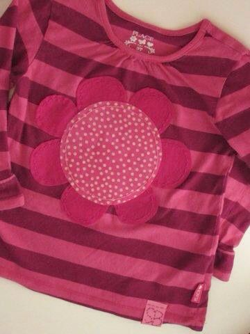 Hand stitched flower tee