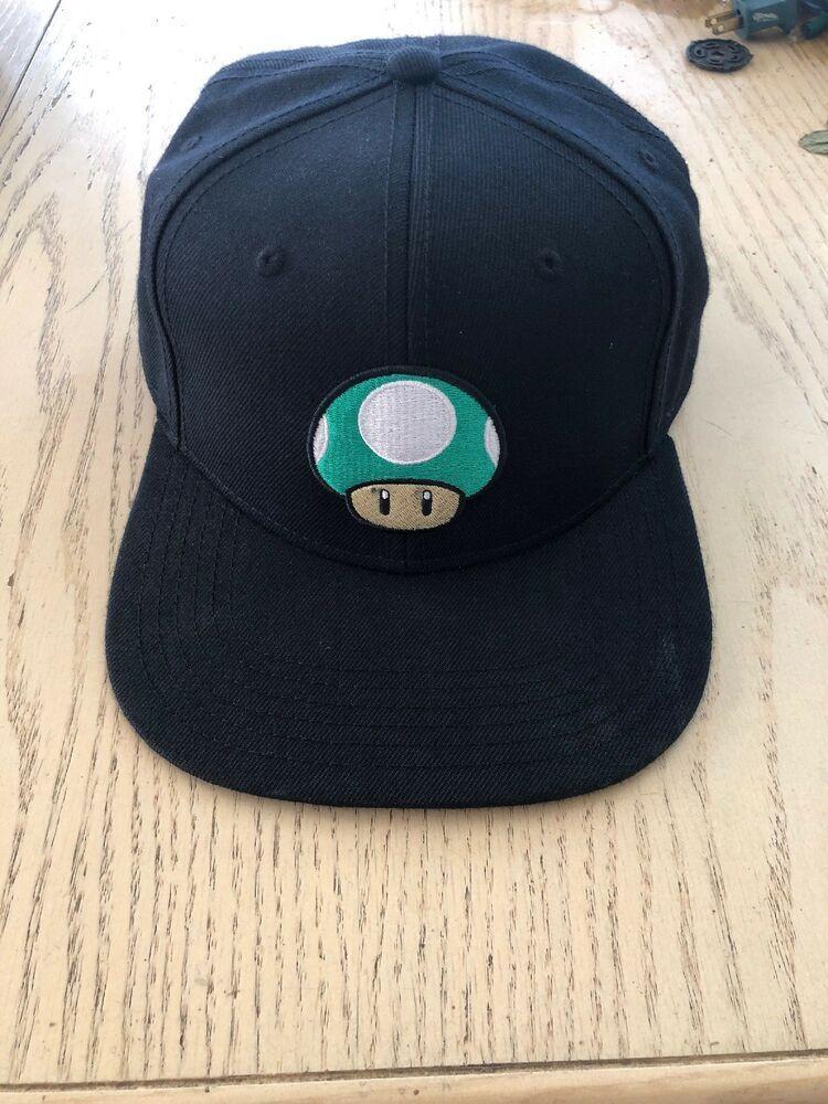 88cfadac00d Nintendo Super Mario Bros 1UP MUSHROOM Fitted Baseball Hat Cap Black Green   fashion  clothing  shoes  accessories  mensaccessories  hats (ebay link)