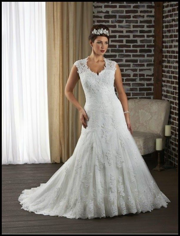 Tulle And Lace Sweetheart Mermaid Plus Size Wedding Dress With