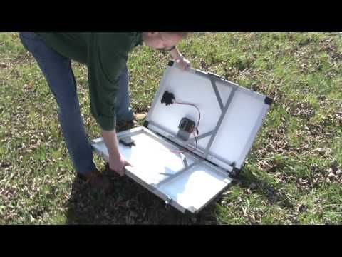solar powered grill project