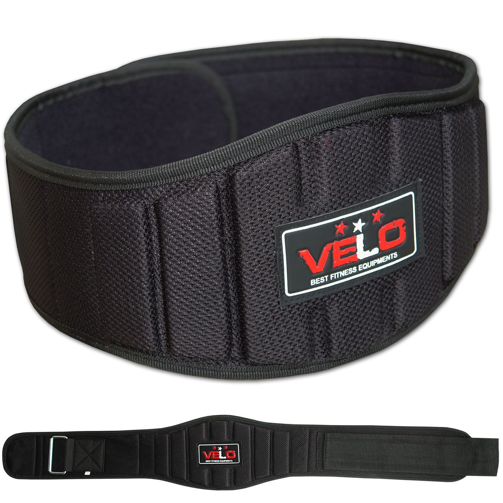 Neoprene Weight Lifting Belt Gym Fitness Wide Back Support Color BLUE