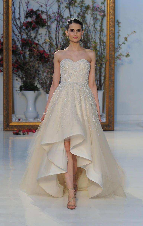 Anne Barge Spring 2017 high low Wedding Dress | I take you #weddingdress #bridalgown