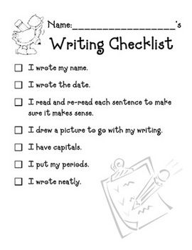 Writing Checklist - worksheet | Writing checklist, Worksheets and ...