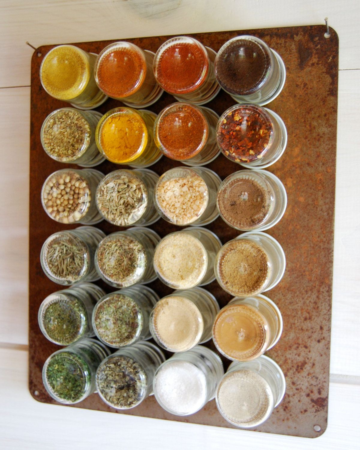 Organic Spice Rack Fair Rustic Everything Kit 24 Organic Spices Handstamped Magnetic Spice Inspiration Design