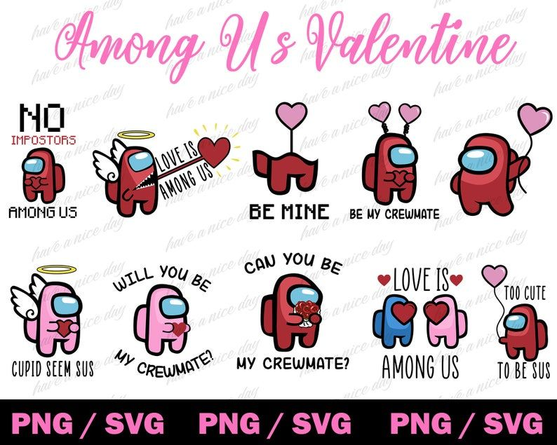 Among Us Svg Valentines Day Svg Valentine Among Us Svg Png Etsy In 2021 Valentines Valentine Hats Valentines Svg